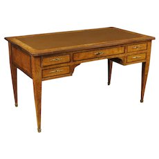 20th Century French Wooden Writing Desk In Louis XVI Style
