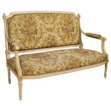 20th Century French Lacquered And Carved Sofa In Louis XVI Style