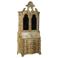 20th Century Venetian Trumeau In Lacquered And Painted Wood