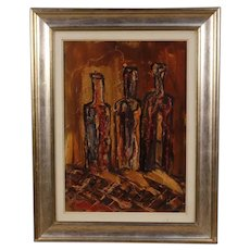 20th Century Italian Still Life Painting In Impressionist Style