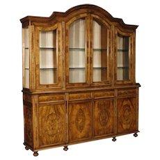 20th Century Italian Bookcase In Walnut And Burl Wood
