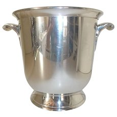 French Pewter Champagne ice Bucket. PARIS Hotel Ice Bucket by Du Manoir