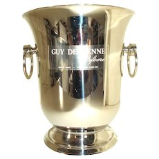 Quality French Ice Bucket, Champagne Bucket.  Stainless Steel Champagne Bucket by Guy de Grenne