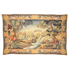 French Tapestry Wall Hanging, Beautiful Colours, Ready to Hang. Les Tapisseries D'Halluin. Made in France.