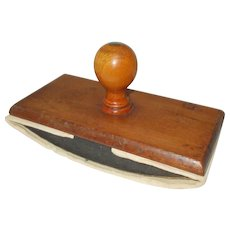Ink Blotter. Vintage French Ink Blotter Rocker. Quality Desk Top Blotter with papers. Felted Wooden Blotter with papers