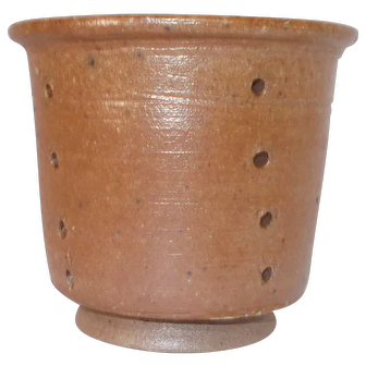 Artisan made French Cheese Mould, Stoneware Pottery Kitchen Strainer Mold