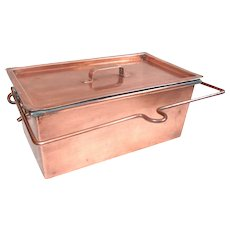 French Copper Steamer, made by Adnet of PARIS.