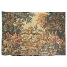 French Tapestry Wall Hanging, The Royal Hunt.  2 m  x  1.39 m