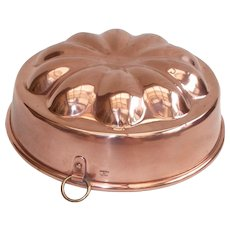 French Jelly Mould, Embossed Made in France. French Copper Kitchen, copper Jelly Mold, Jelly Mold, Tin Lined