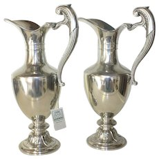 Pair of  Pewter Jugs by Etains du Manoir. Impressive French Jugs.