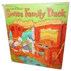Walt Disney's Swiss Family Duck Whitman Tell a Tale Book 1964