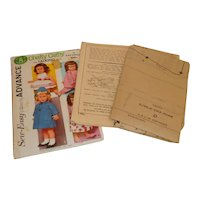 Chatty Cathy Vintage Sewing Pattern by Advance