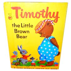 Timothy the Little Brown Bear Junior Elf Children's Picture Book