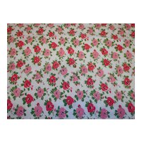 1930's Feed Sack fabric Red Pink Flowers Quilting Cotton fabric