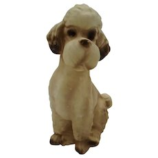 Poodle Figurine White with Black Shadowing Norleans