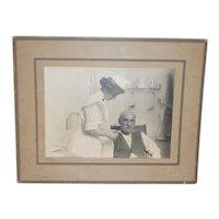 Nurse tends to Patient Vintage Photograph History Captured