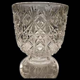King, Son and Co. Glass Fine Cut and Block Jelly or Jam Jar - EAPG