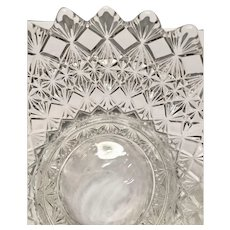 King, Son and Co. Glass Fine Cut and Block Sauce or Berry Bowl - EAPG