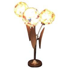 Mid Century Spun Lucite Spaghetti Ribbon Table Lamp - 3 Lights