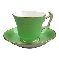 Bone China Crown Staffordshire Miniature Coffee Cup And Saucer Antique C1920.
