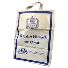 Queen Elizabeth II Silver Jubilee A&N Double Paper Bag Vintage 1977