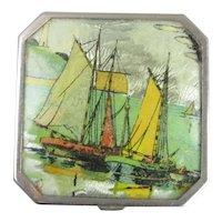 Miniature Gwenda Seascape Compact Art Deco c1930