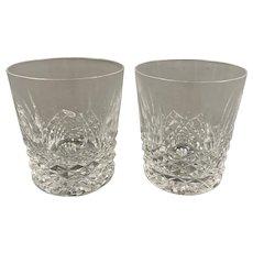 Pair Of Waterford Whiskey Glasses Vintage c1950