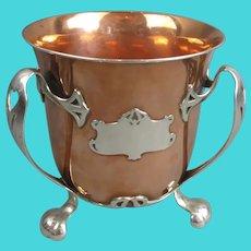 Gorham Silver & Copper Athenic Wine Cooler Antique Victorian c1900