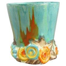 Clarice Cliff My Garden Vase Light Turquoise Vintage c1930
