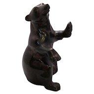 Bronze Brown Bear Sculpture Vintage