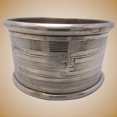 Birmingham Sterling Silver Napkin Ring Vintage C1922