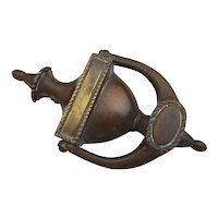 Cast Bronze Door Knocker Antique Victorian C1890.