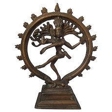 Smaller Vintage Brass Indian Dancing Shiva.