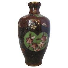Miniature Vintage Oriental Cloisonne Vase.