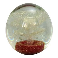 Antique Victorian Large Clear Glass Dump Paper Weight.