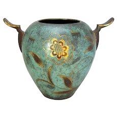 Mid Century WMF Ikora Bronze Vase.