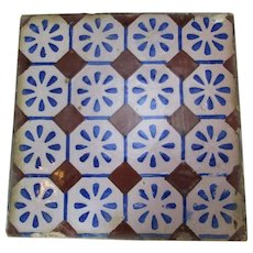 Turkish Ceramic Tile Vintage c.1900s.
