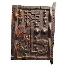 West African Wooden Dogon Grain Store Door Vintage 20th century.