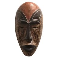 African Wooden Tribal Mask Vintage 20th Century.
