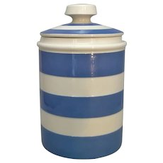 English Porcelain Cornish Ware Pot Vintage 20th Century.