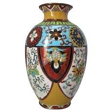 Chinese Porcelain Cloisonne Vase Antique c.1900.