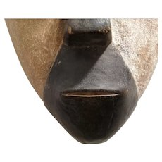 African Wooden Carved Tribal Mask Vintage 20th Century.