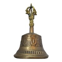 Indian Bronze Bell Vintage 20th Century.