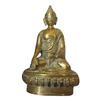 Oriental Bronze Buddha Figure Vintage 20th Century.