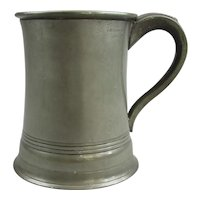 John McGlashan Of Glasgow Pewter Pint Measuring Pot Vintage C1940.
