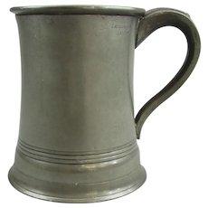 John McGlashan Of Glasgow Pewter Pint Measuring Pot Vintage C1940.