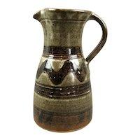 Studio Pottery Tenmoku Jug Vintage