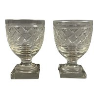 Pair Of Rummer Wine Glass Antique Victorian c1860