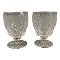 Pair Of Rummer Wine Glasses Antique Victorian c1860