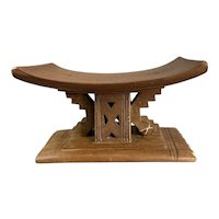 African Ashanti Stool Carved Made Of Alstonia Tree Antique Victorian c1880